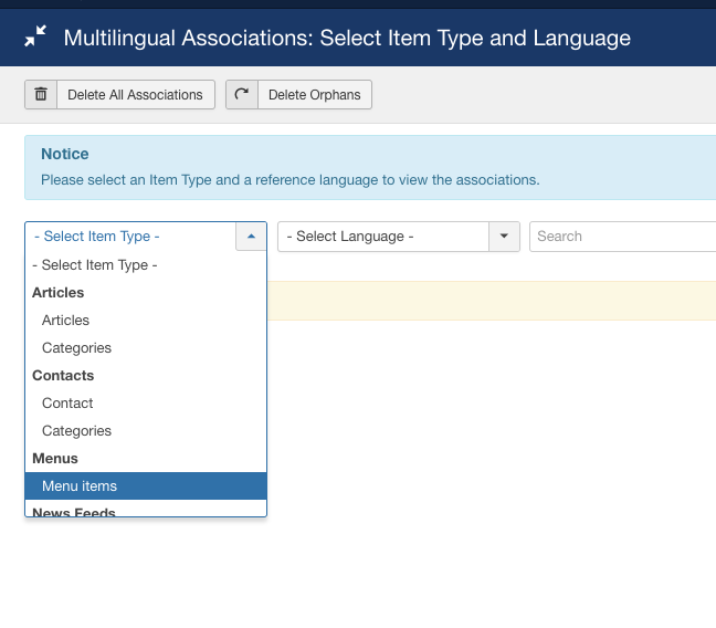 joomla 37 a 1 Multilingual Associations