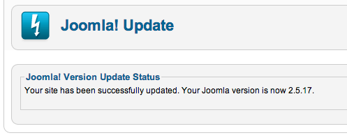 joomla2517 update successfully