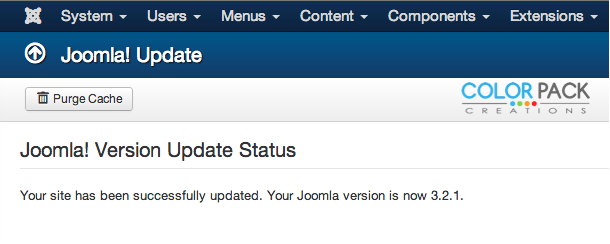 joomla321 successfully updated