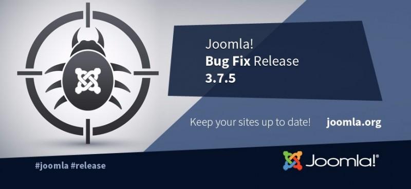 Joomla! 3.7.5 ออกมาแล้ว แก้บัค  1 จุด